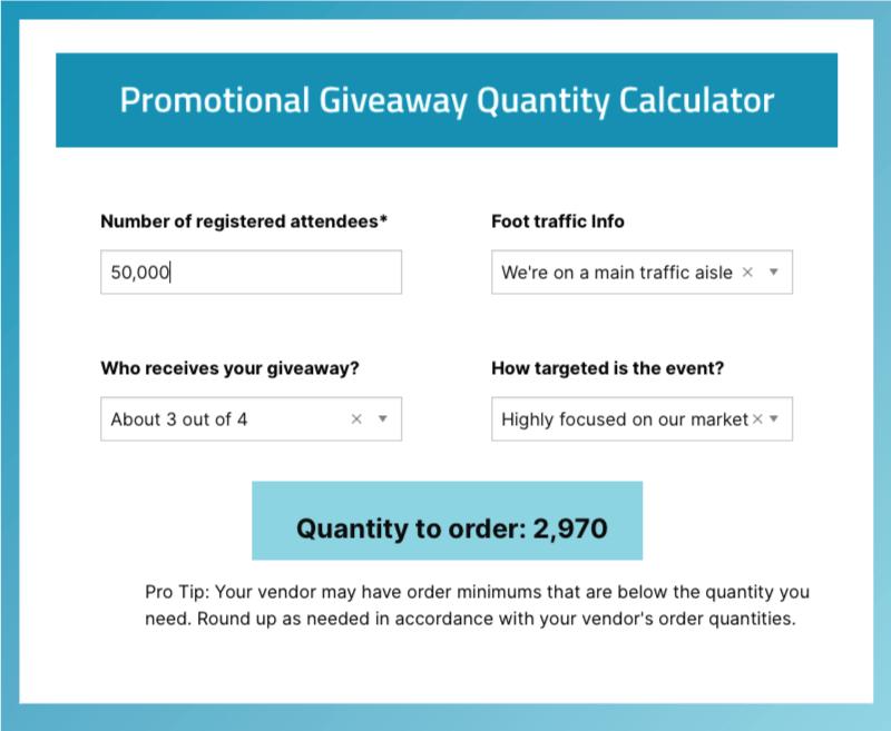 promotional items budget quantity calculator
